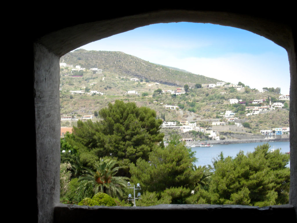 Castello di Lipari - panoramica paesaggio